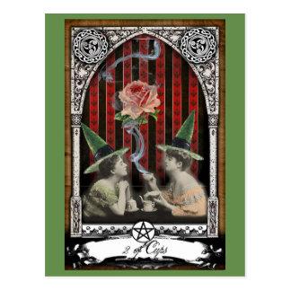 2 de la carte postale victorienne de tarot de