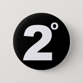 2 degrés de bouton de changement climatique badges
