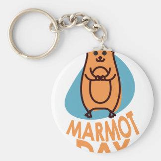 2 février - jour de Marmot - jour d'appréciation Porte-clé Rond