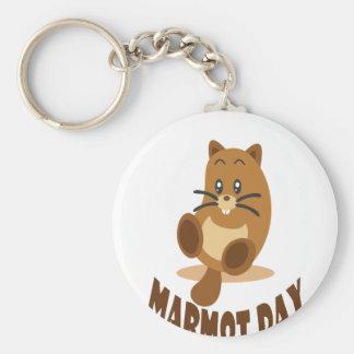 2 février - jour de Marmot Porte-clé Rond