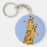 2 girafes porte-clefs