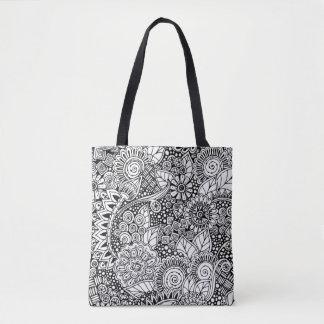 2 inspirés floraux ethniques sac