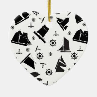 2 nautiques des fernandes élégants ornement cœur en céramique