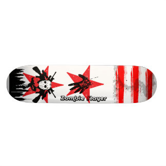 2 plate-formes rouges de planche à roulettes de skateboard old school 18,1 cm