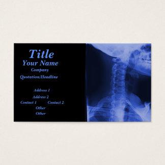 2 radiographiés - Bleu électromagnétique Cartes De Visite