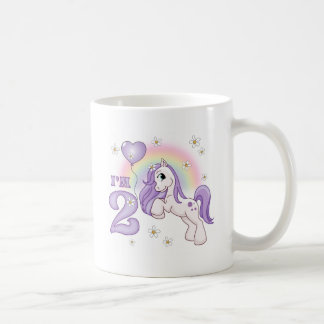 2ème anniversaire de joli poney tasse à café