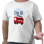 2ème Camion de pompiers d'anniversaire T-shirt