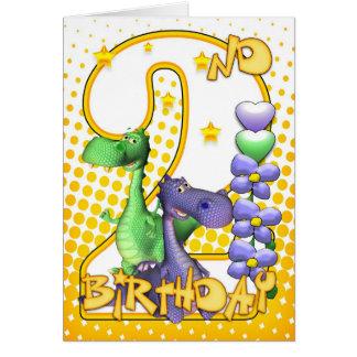 2ème carte d'anniversaire de jumeaux - petits drag