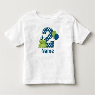 2ème Chemise personnalisée par grenouille T-shirt Pour Les Tous Petits