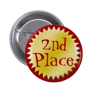 2ème Deuxième bouton de récompense d'endroit, pers Badges