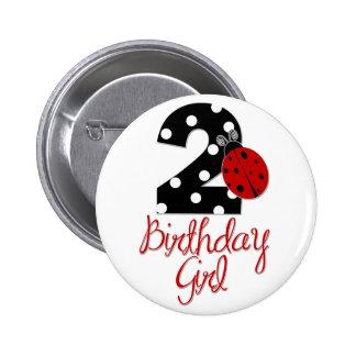 2ème Fille d'anniversaire - coccinelle - 2 Madame  Pin's