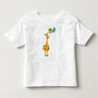 2ème Girafe d'anniversaire avec des ballons T-shirt Pour Les Tous Petits