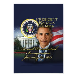 2ème inauguration du Président Obama Carton D'invitation 12,7 Cm X 17,78 Cm