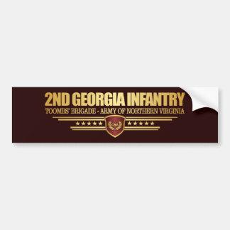 2ème Infanterie de la Géorgie Autocollant De Voiture