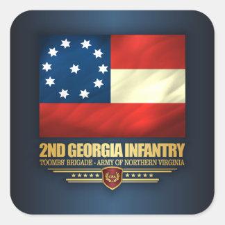2ème Infanterie de la Géorgie Sticker Carré