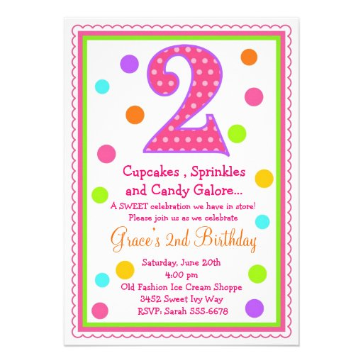 2ème invitation d'anniversaire de surprise douce