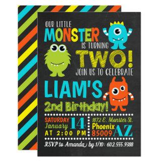 2ème invitation de fête d'anniversaire de monstre