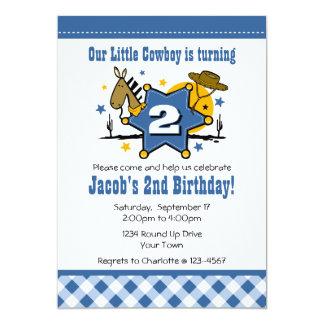 2ème invitation de fête d'anniversaire de petit