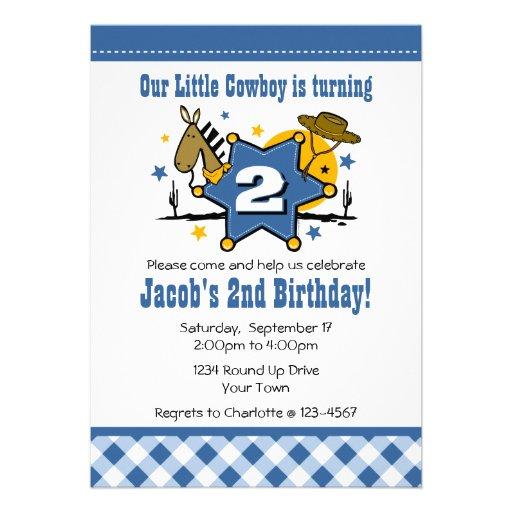 2ème invitation de fête d'anniversaire de petit co