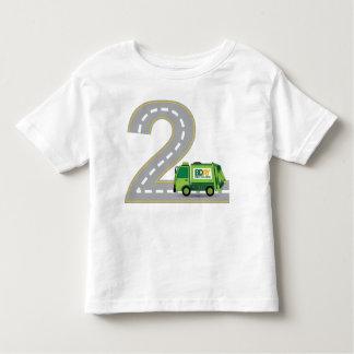 2ème T-shirt de camion à ordures d'anniversaire