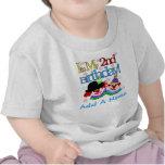 2ème T-shirt personnalisé d'anniversaire de clowns