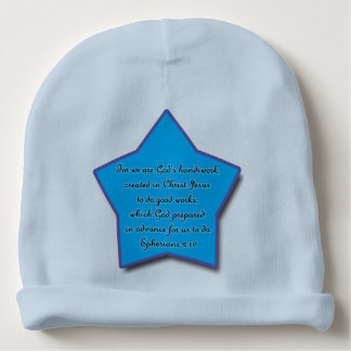 2h10 d'Ephesians, étoile bleue de vers de bible Bonnet De Bébé