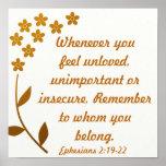 2h19 d'Ephesians de vers de bible d'encouragement Posters