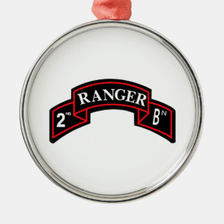 2nd Ranger Battalion - 2ème bataillon de Ranger Ornement Rond Argenté