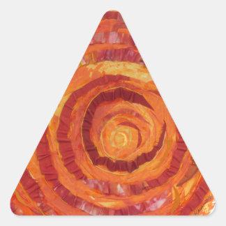 2nd-Sacral Chakra - Peinture-Tissu orange #2 Sticker Triangulaire