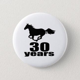 30 ans de conceptions d'anniversaire badge