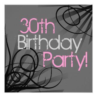 30 invitations roses de coutume de remous de charb
