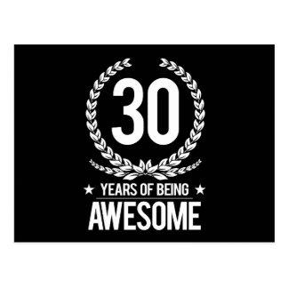 30ème Anniversaire (30 ans d'être impressionnants) Carte Postale