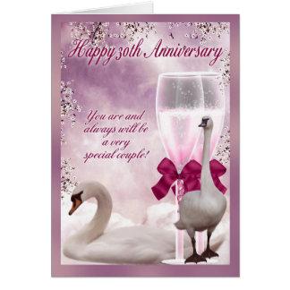 30ème anniversaire - anniversaire de perle cartes