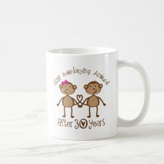 30ème Cadeaux d'anniversaire de mariage Mug Blanc