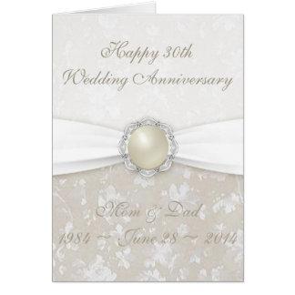 30ème carte de voeux d'anniversaire de mariage de