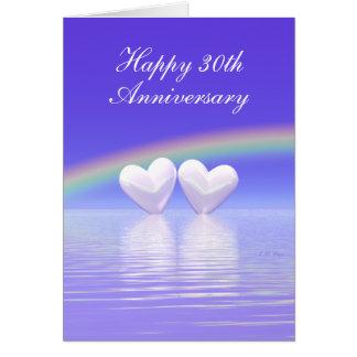 30ème Coeurs de perle d'anniversaire (grands) Cartes