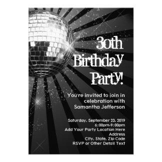30ème fête d'anniversaire d'étincelle de boule noi