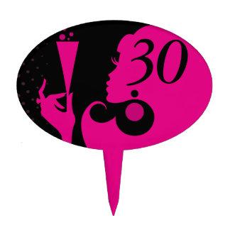 30ème Fille de cocktail de fête d'anniversaire - f Piques À Gâteaux
