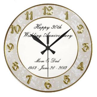30ème Horloge d'anniversaire de mariage