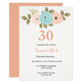 30ème invitation d'anniversaire de jolie pêche
