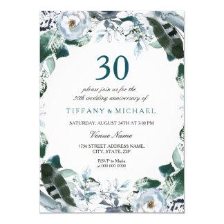 30ème invitation d'anniversaire de mariage de vert