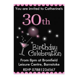30ème Invitation de fête d anniversaire - verre de