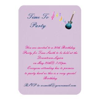30ème Invitation de fête d'anniversaire
