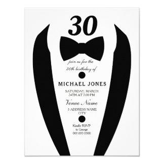 30ème invitation de fête d'anniversaire des hommes