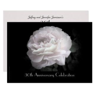 30ème Invitation de fête d'anniversaire pâle -