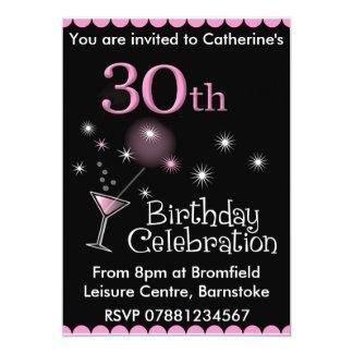 30ème Invitation de fête d'anniversaire - verre de Carton D'invitation 12,7 Cm X 17,78 Cm