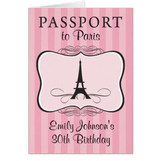 30ème Invitation de passeport de Paris