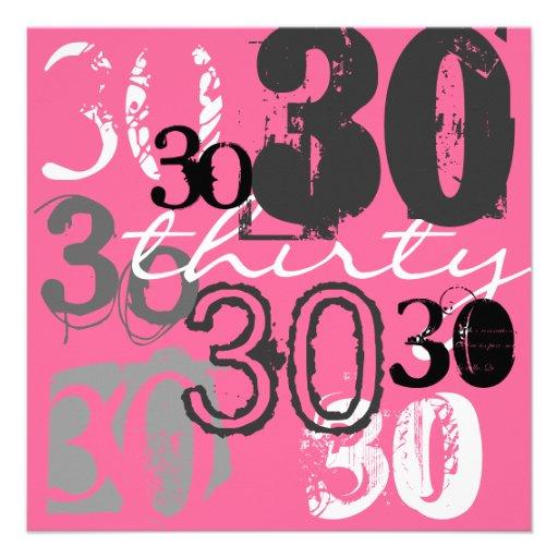 30ème Invitations de fête d'anniversaire