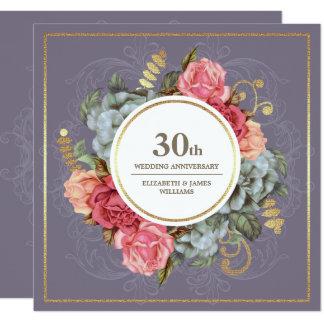 30ème Invitations de fête d'anniversaire de