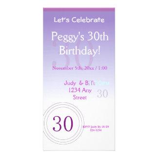 30ème Nombres d'anniversaire Carte Avec Photo